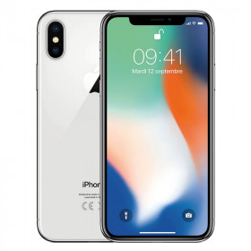 iPhone X SIN FACE ID Plateado 256Go Reacondicionado